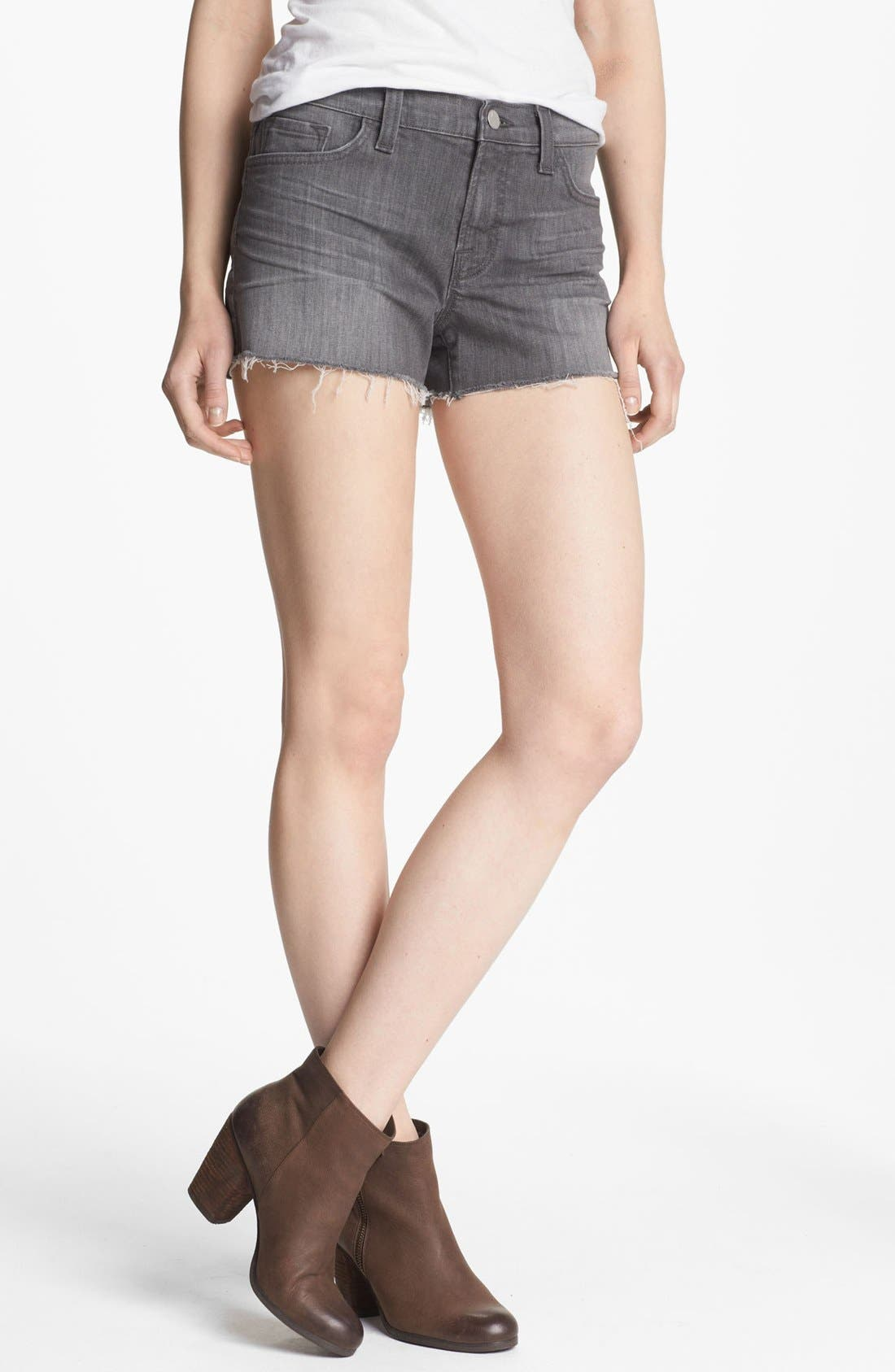 Cutoff Denim Shorts,                             Main thumbnail 1, color,                             Kingdom