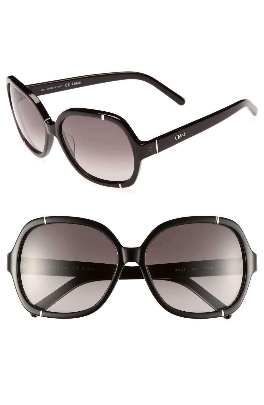 Alternate Image 1 Selected - Chloé 'Caspia' 58mm Sunglasses