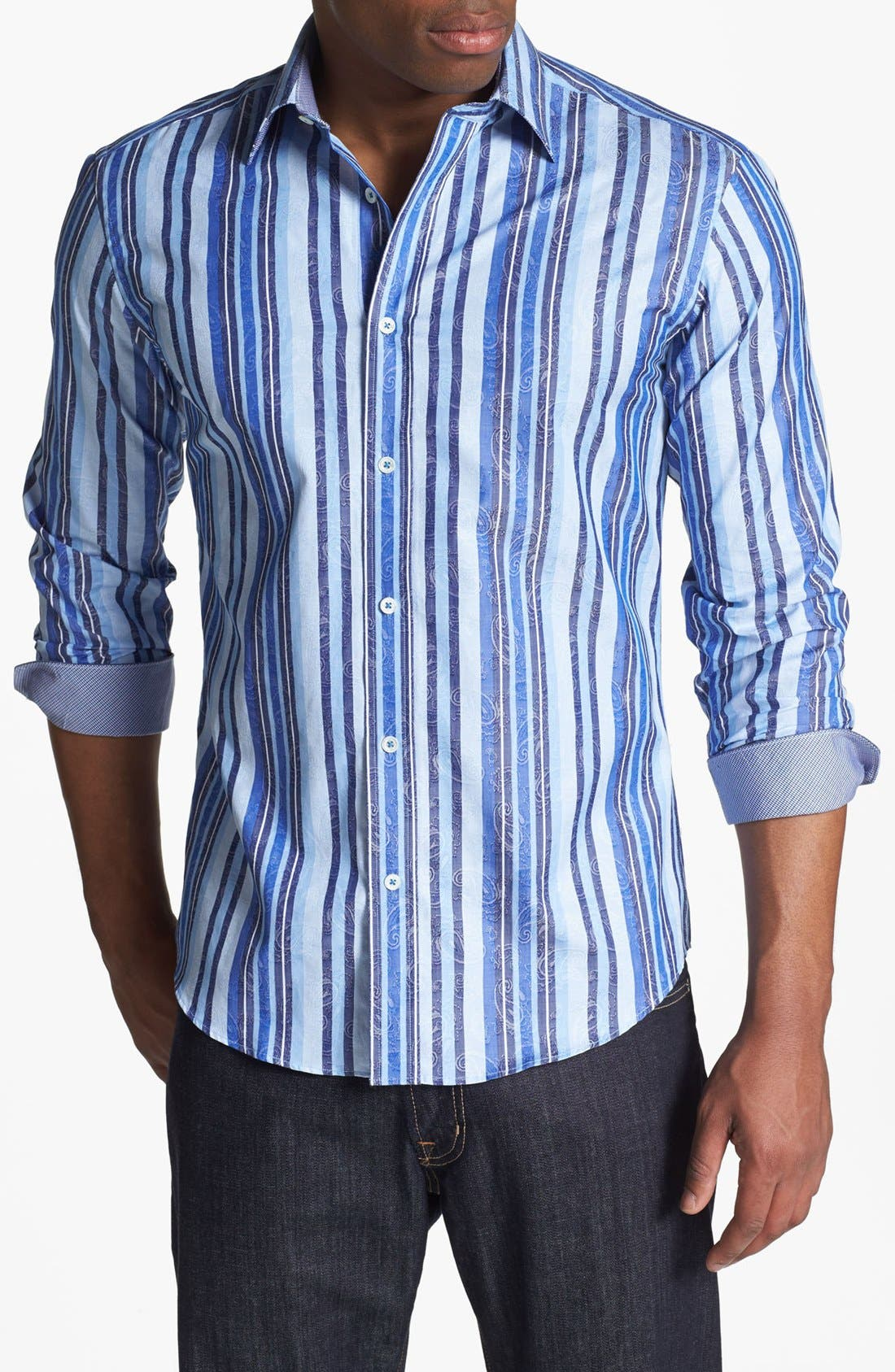 Main Image - BUGATCHI Shaped Fit Sport Shirt