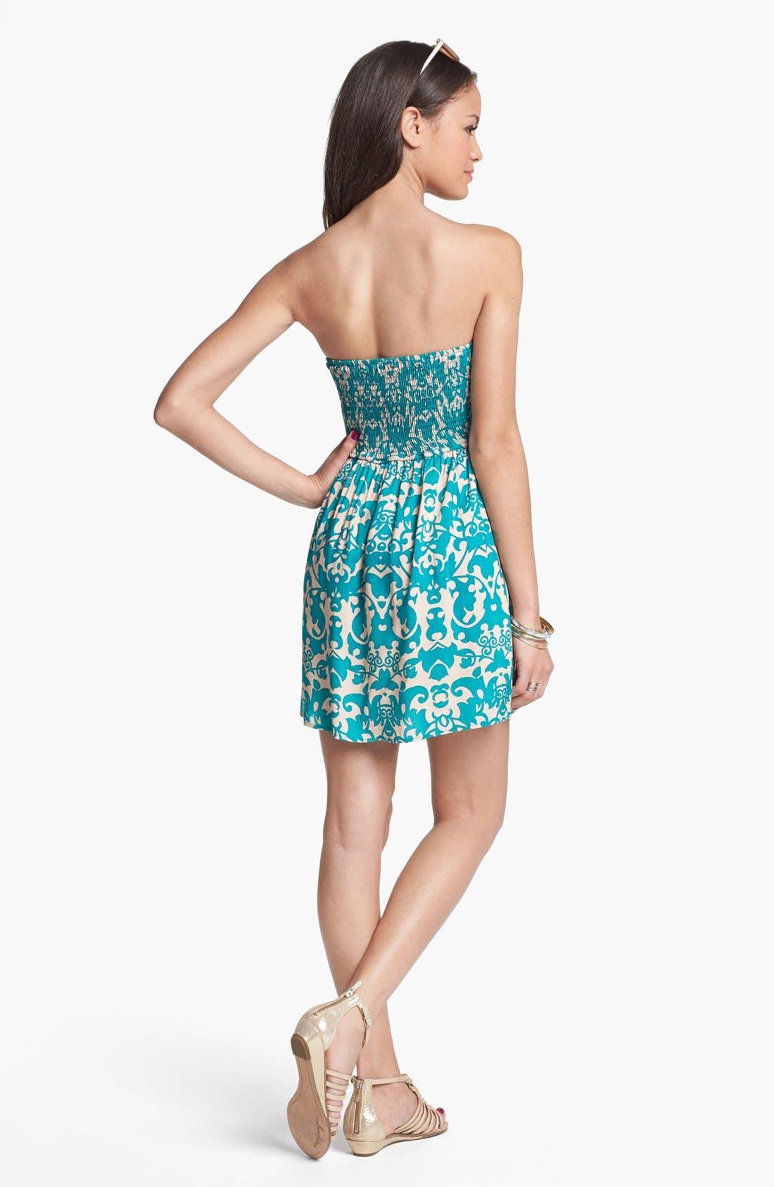 Alternate Image 2  - dee elle 'Sweetheart' Strapless Dress (Juniors) (Online Only)
