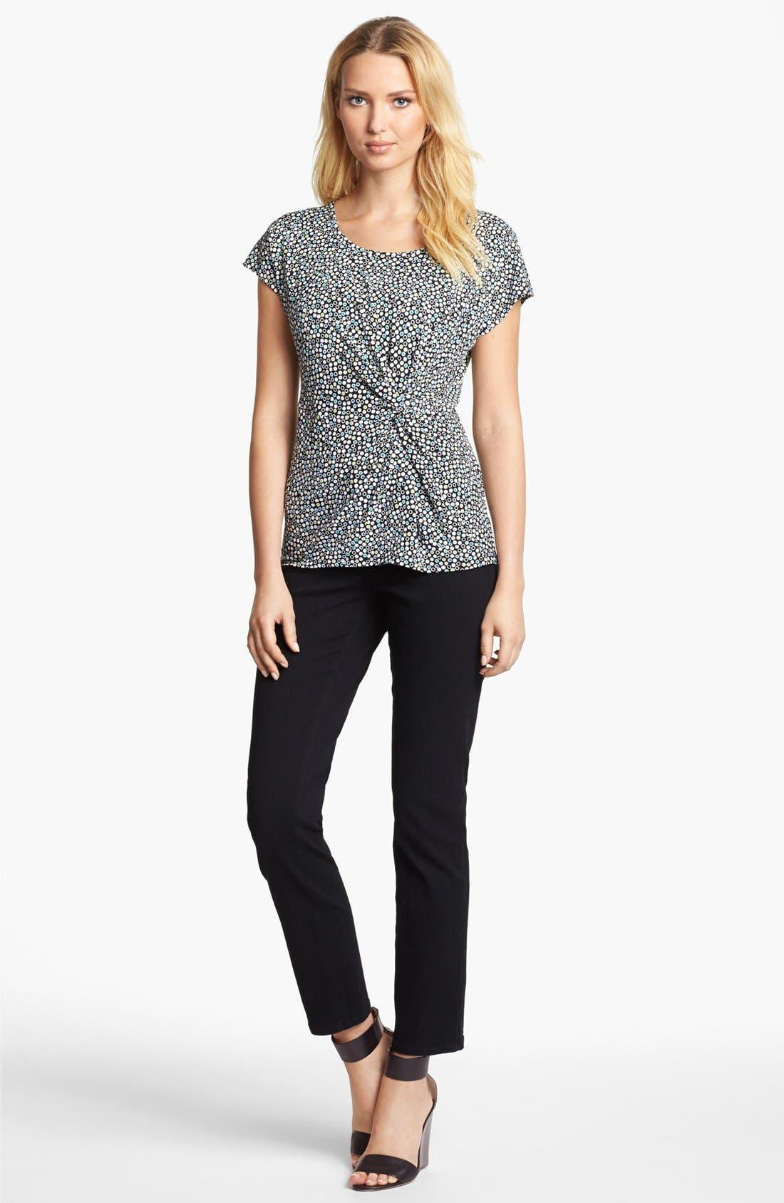 Alternate Image 2  - NYDJ 'Sheri' Stretch Skinny Jeans (Black) (Regular & Petite)