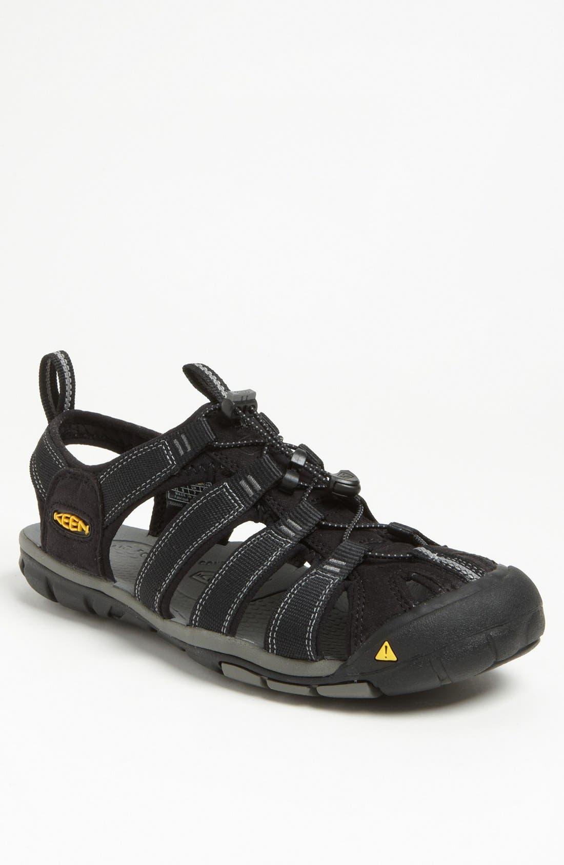 'Clearwater CNX' Sandal,                             Main thumbnail 1, color,                             Black/ Gargoyle