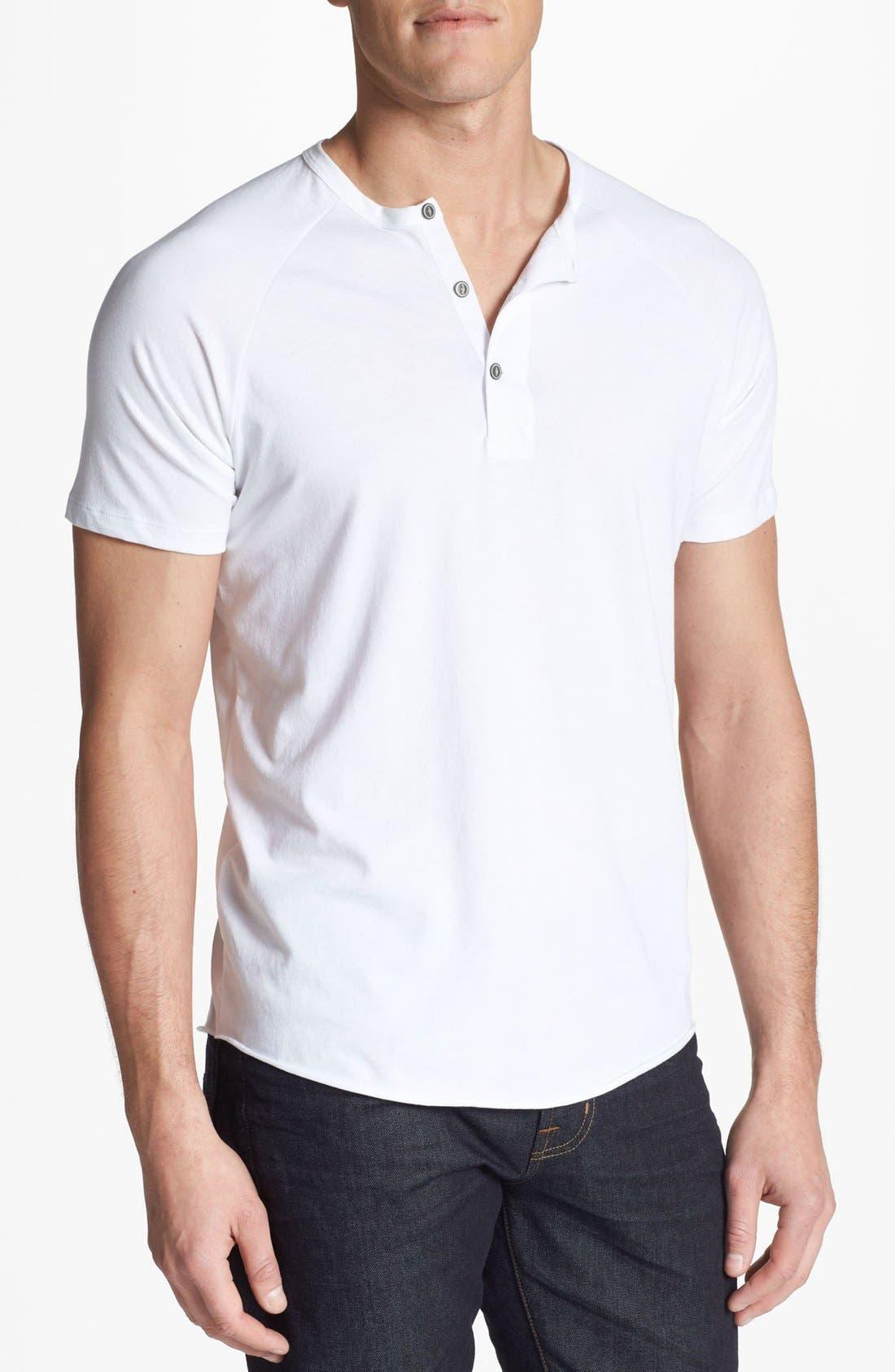 Alternate Image 1 Selected - AG Short Sleeve Raglan Henley T-Shirt