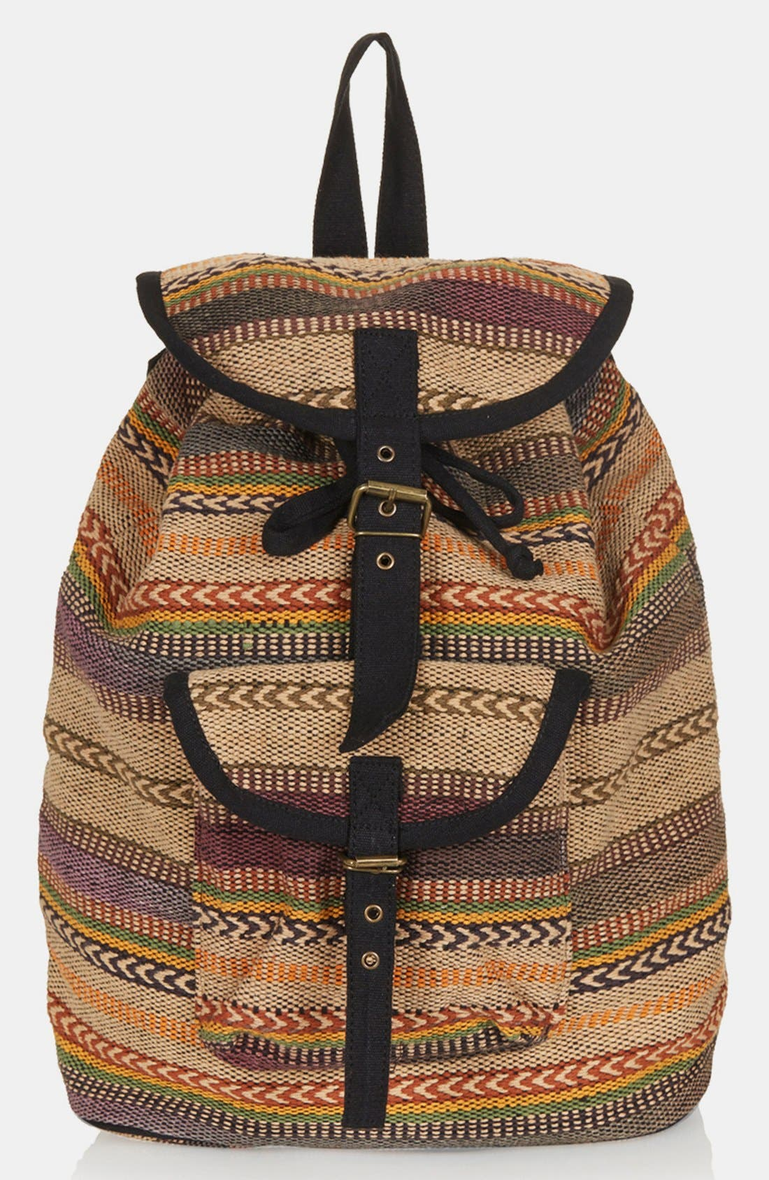 Main Image - Topshop 'Aztec Stripe' Backpack