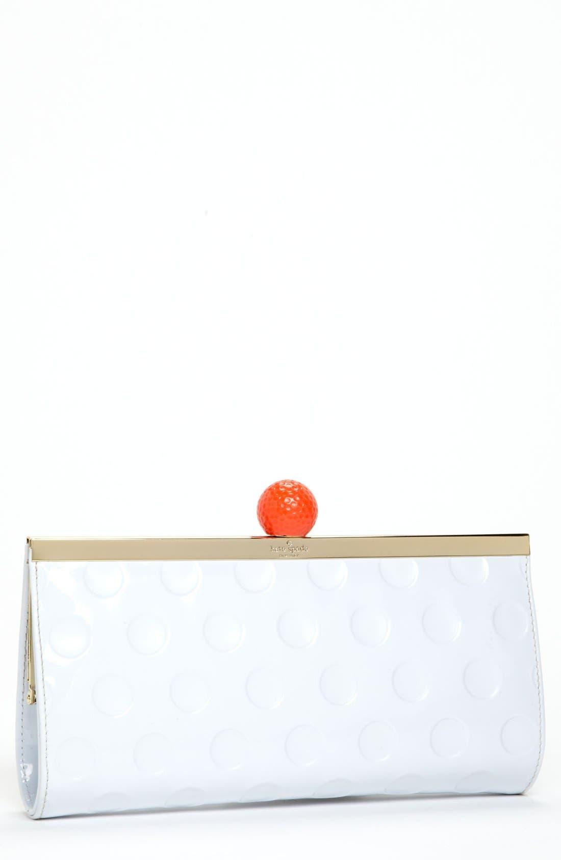 Main Image - kate spade new york 'on par - florez' faux patent clutch