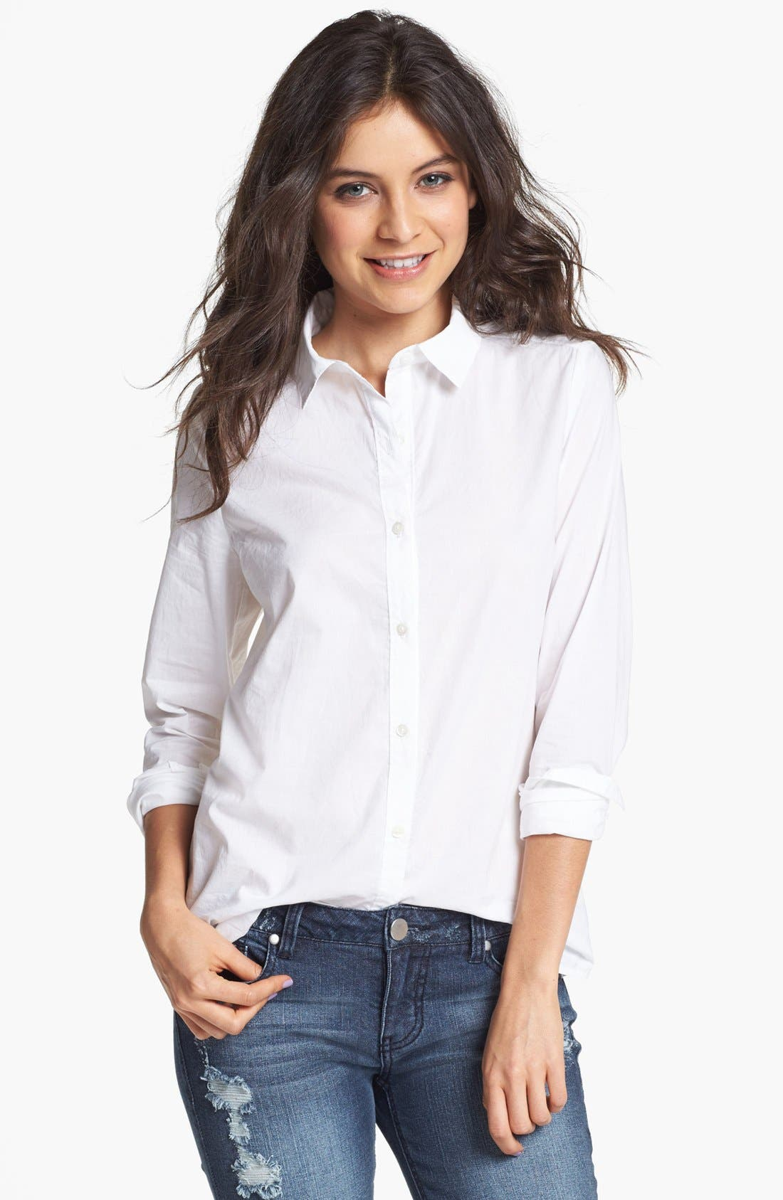 Collared Shirt,                         Main,                         color, White
