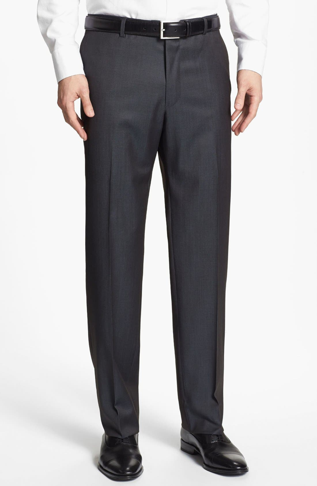 Main Image - Joseph Abboud Flat Front Trousers