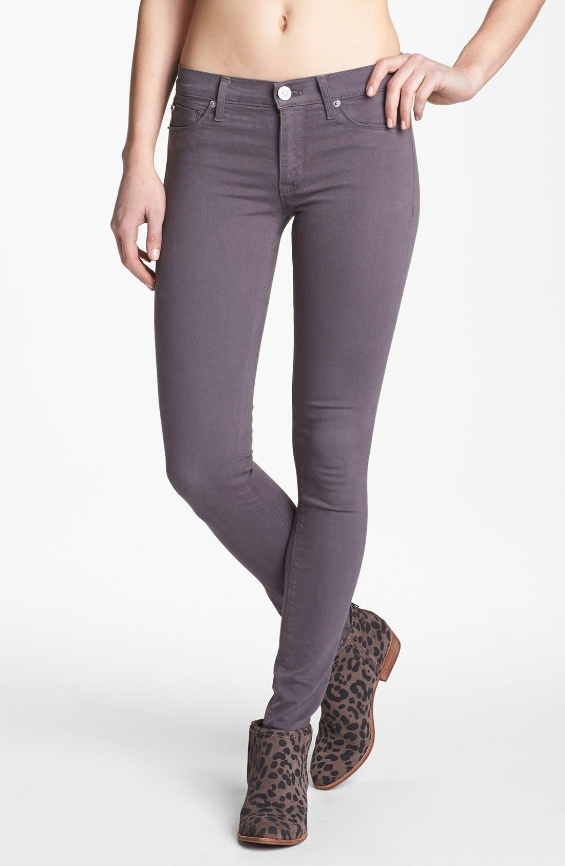 Alternate Image 1 Selected - Hudson Jeans 'Colette' Mid Rise Skinny Jeans (Steel Grey)