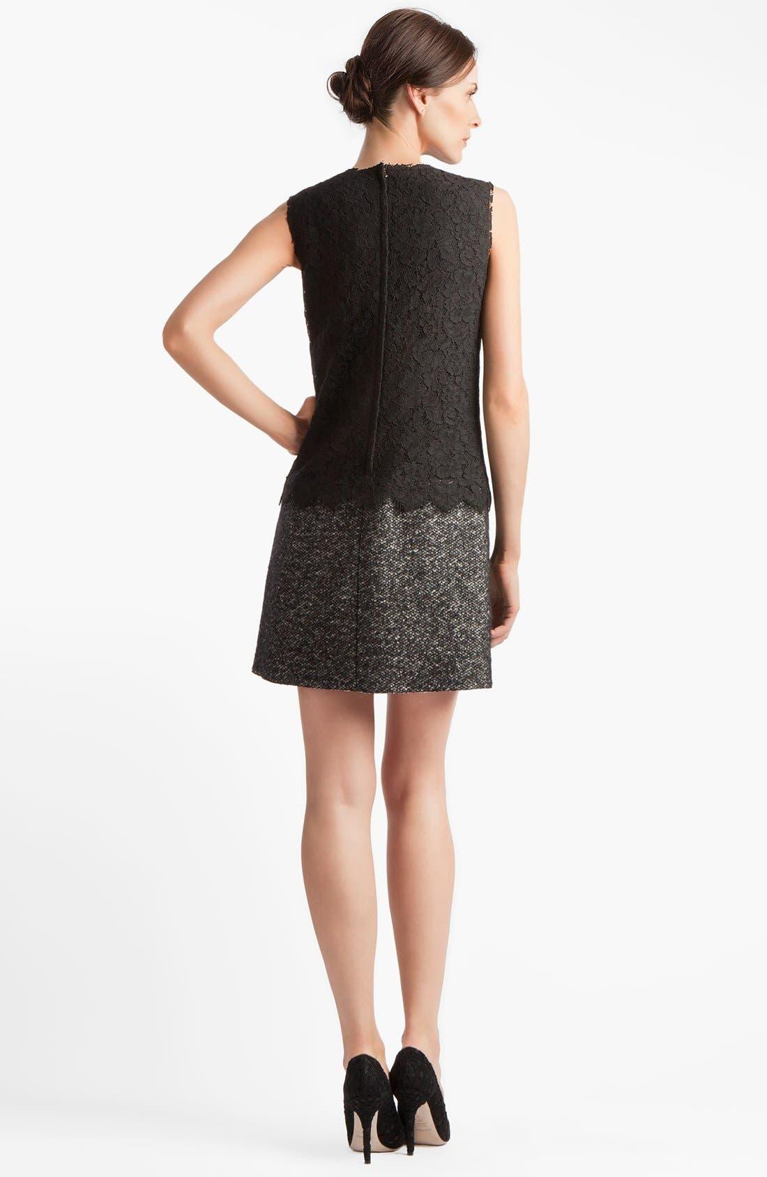 Alternate Image 2  - Dolce&Gabbana Lace & Tweed Dress