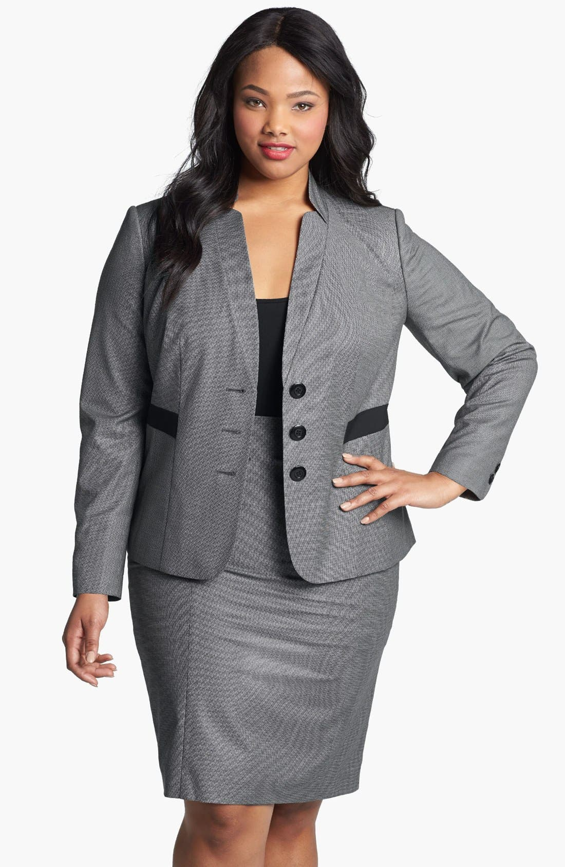 Alternate Image 1 Selected - Sejour 'Marcy' Suit Jacket (Plus Size)