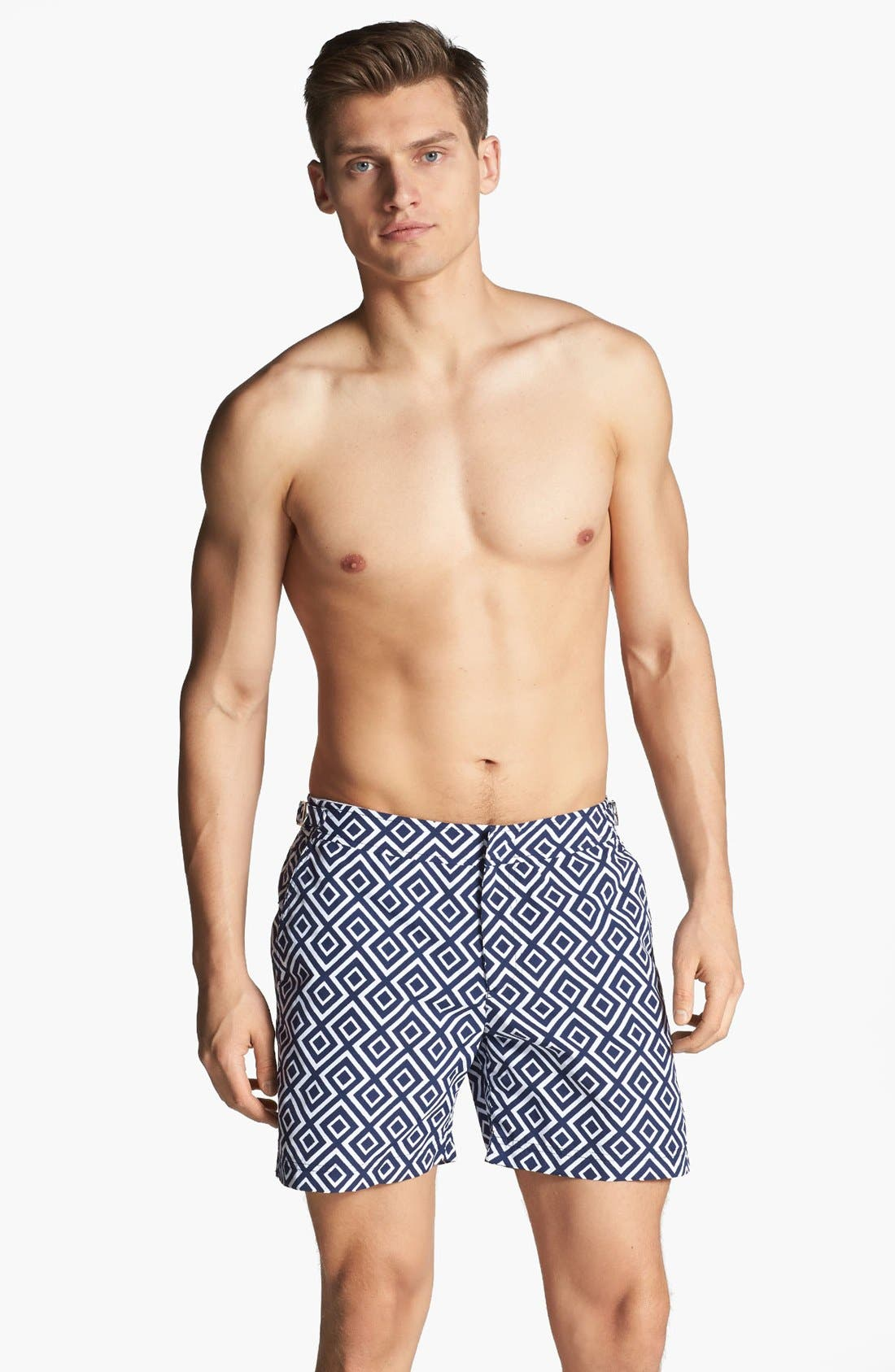 Alternate Image 1 Selected - Orlebar Brown 'Bulldog - La Fiorentina' Print Swim Trunks
