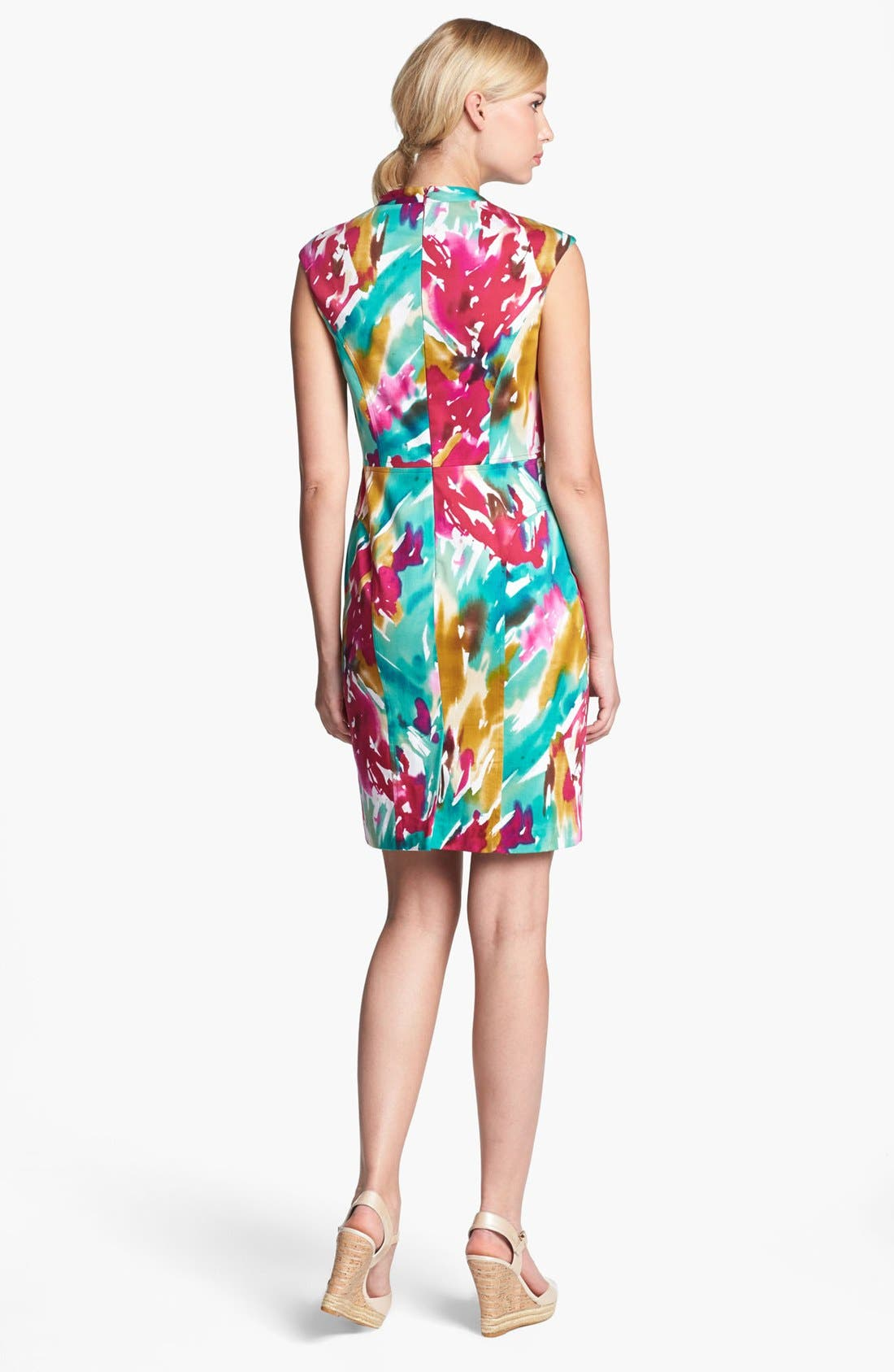 Alternate Image 2  - Adrianna Papell Floral Shift Dress