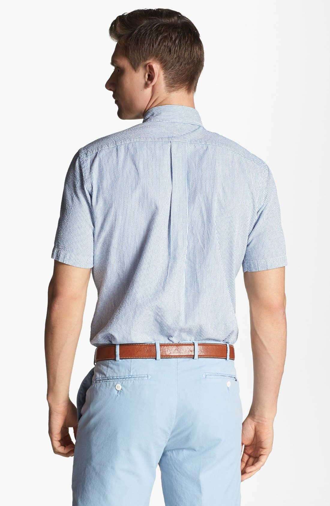 Alternate Image 2  - Polo Ralph Lauren Short Sleeve Seersucker Sport Shirt