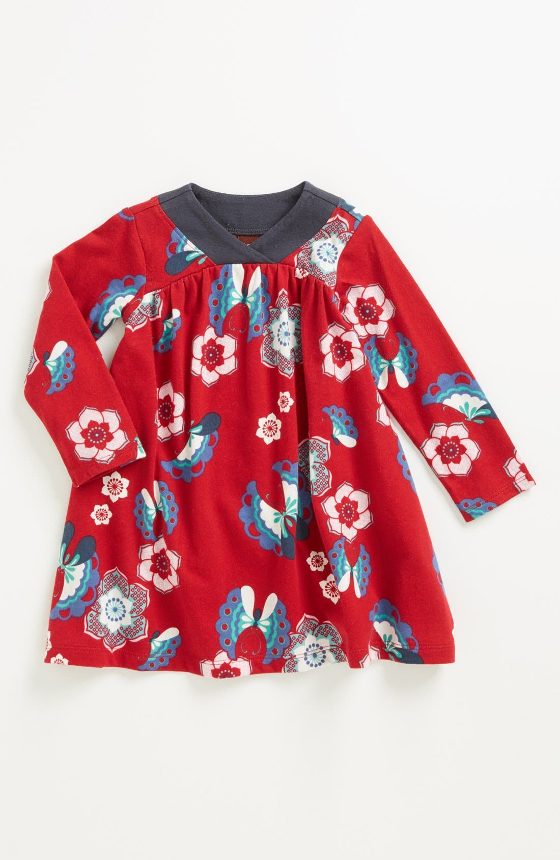 Alternate Image 1 Selected - Tea Collection 'Twirly' Print Dress (Baby Girls)