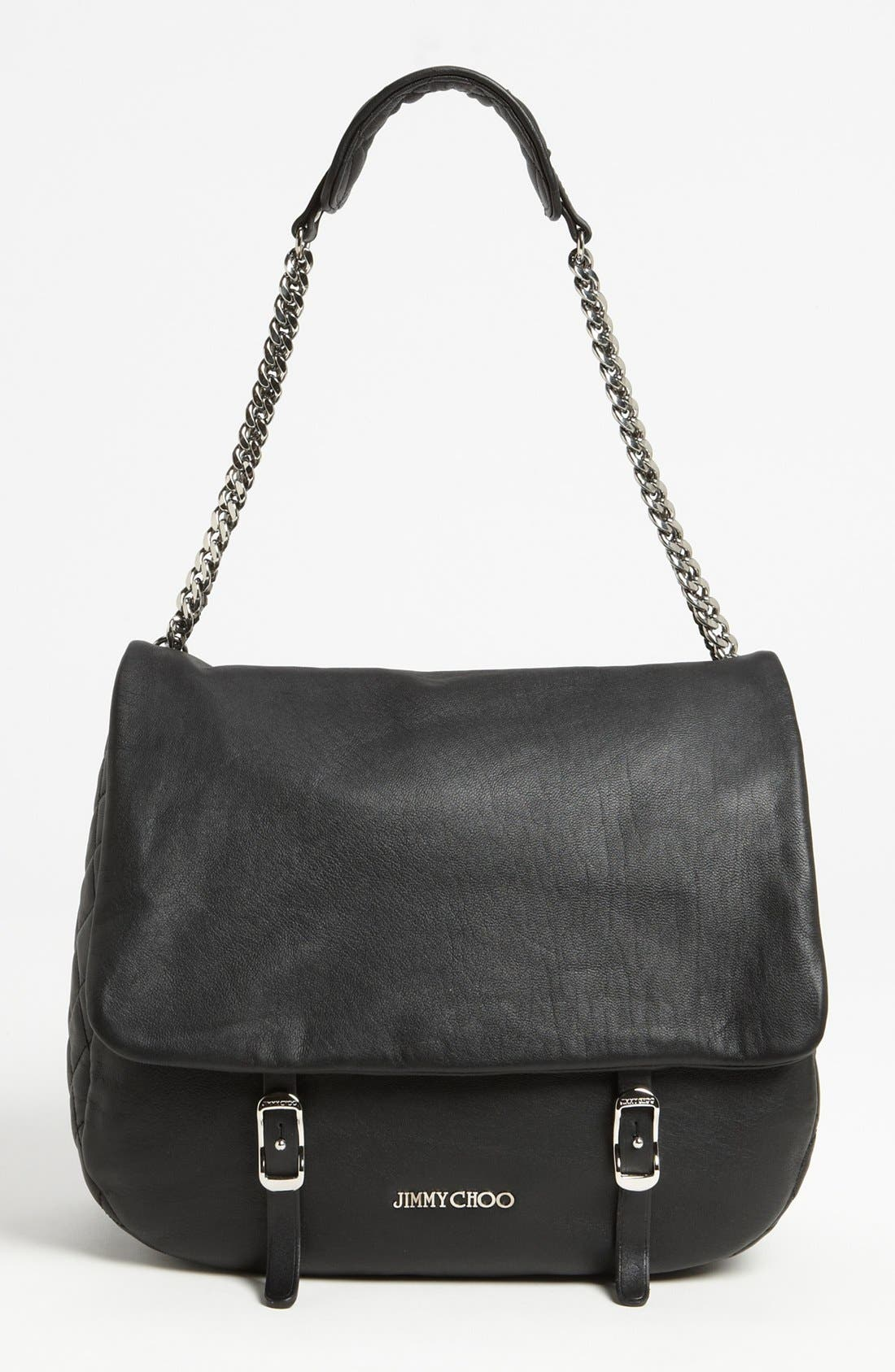 Main Image - Jimmy Choo 'Becka Biker - Large' Leather Shoulder Bag