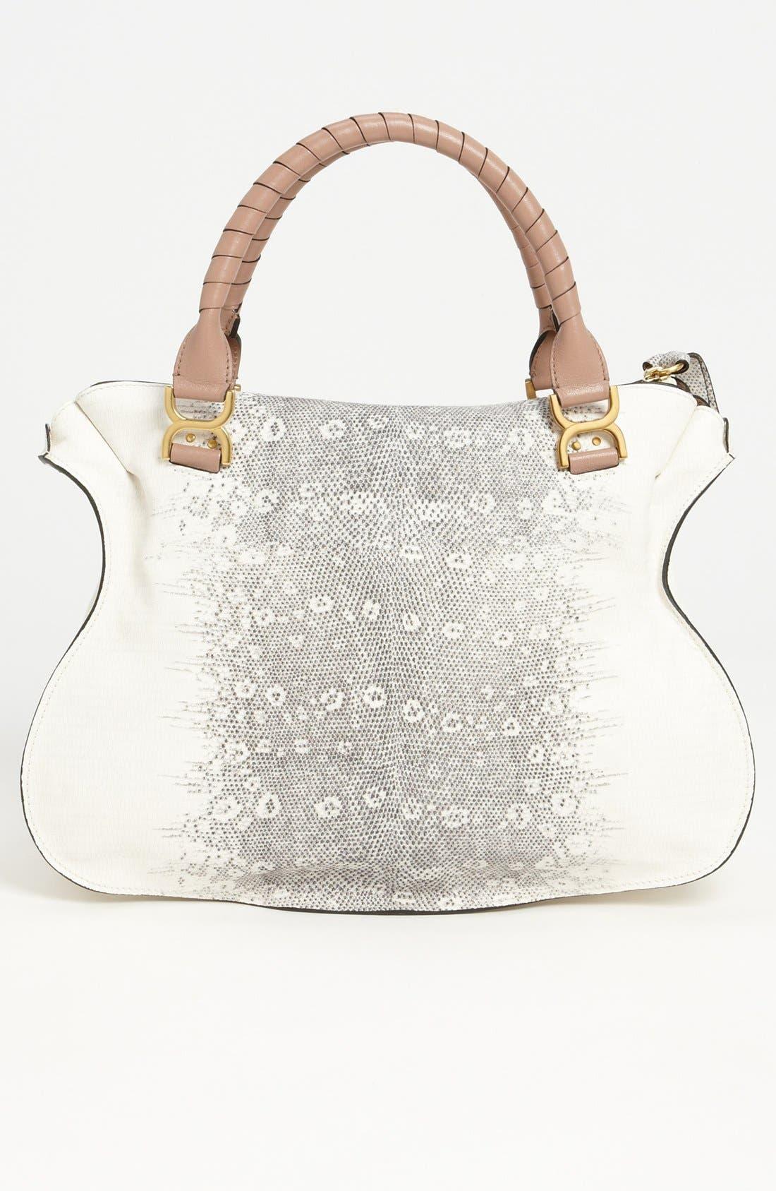 Alternate Image 4  - Chloé 'Marcie - Large' Lizard Print Leather Shoulder Bag