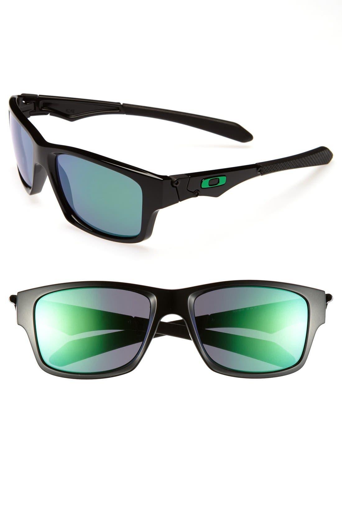 'Jupiter Squared' 56mm Sunglasses,                         Main,                         color, Polished Black