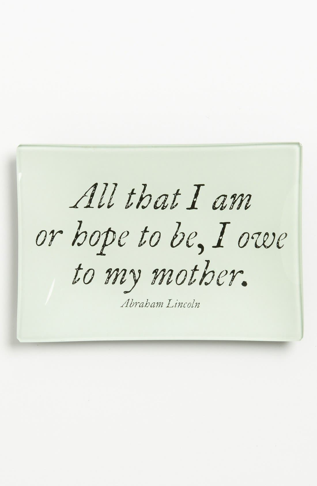 'All That I Am' Trinket Tray,                         Main,                         color, Ivory