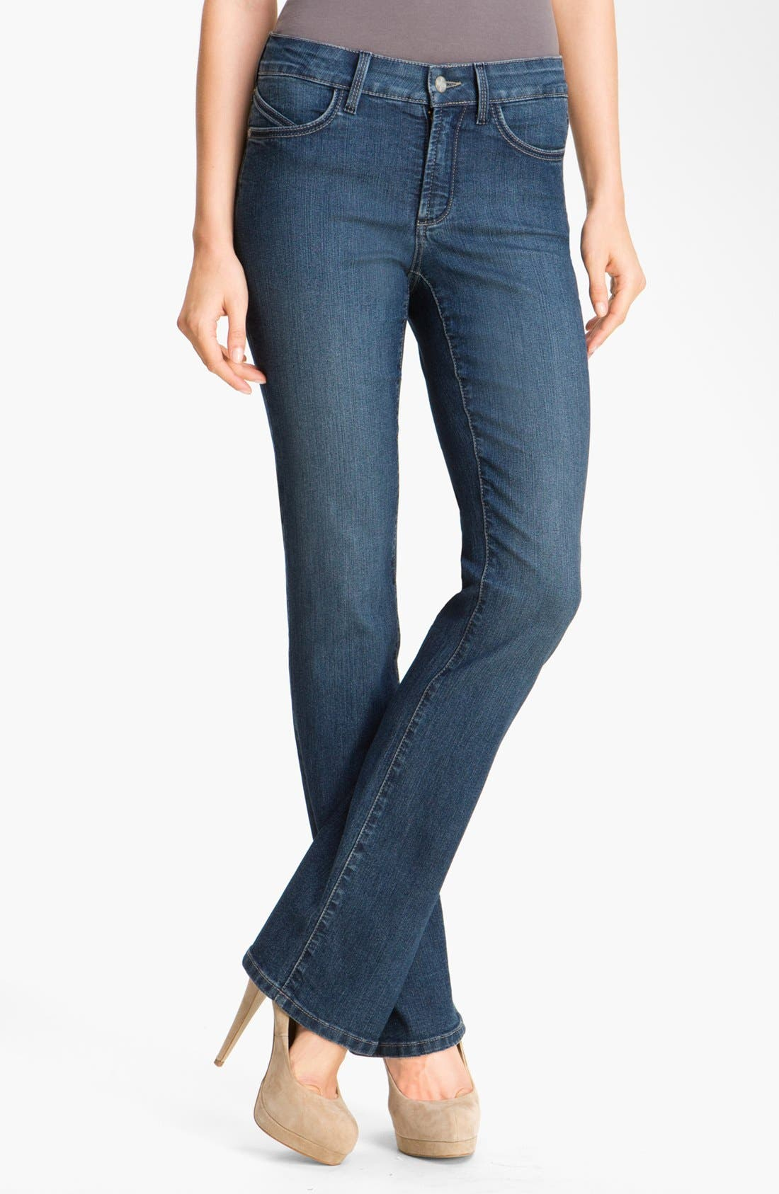 Main Image - NYDJ 'Barbara' Embellished Bootcut Stretch Jeans (Petite)