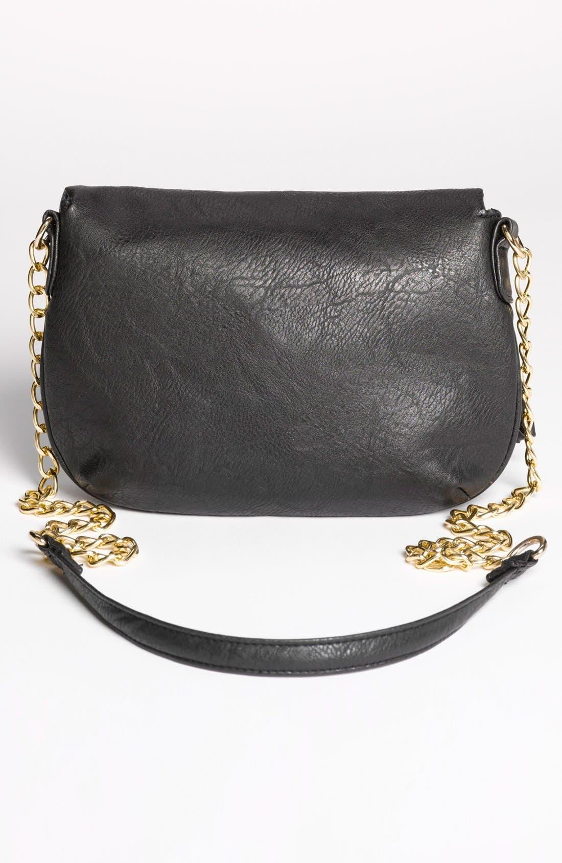 Alternate Image 4  - Under One Sky Faux Leather Crossbody Bag (Juniors)