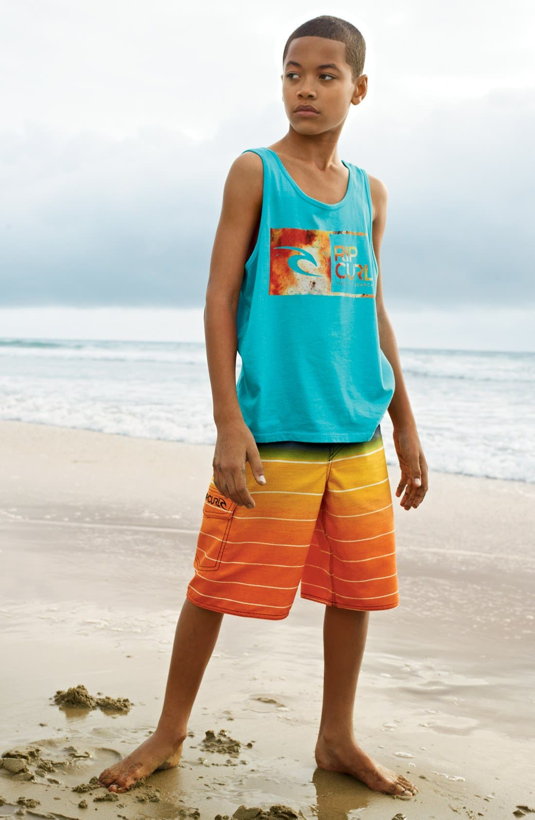 Alternate Image 1 Selected - Rip Curl Tank & Board Shorts