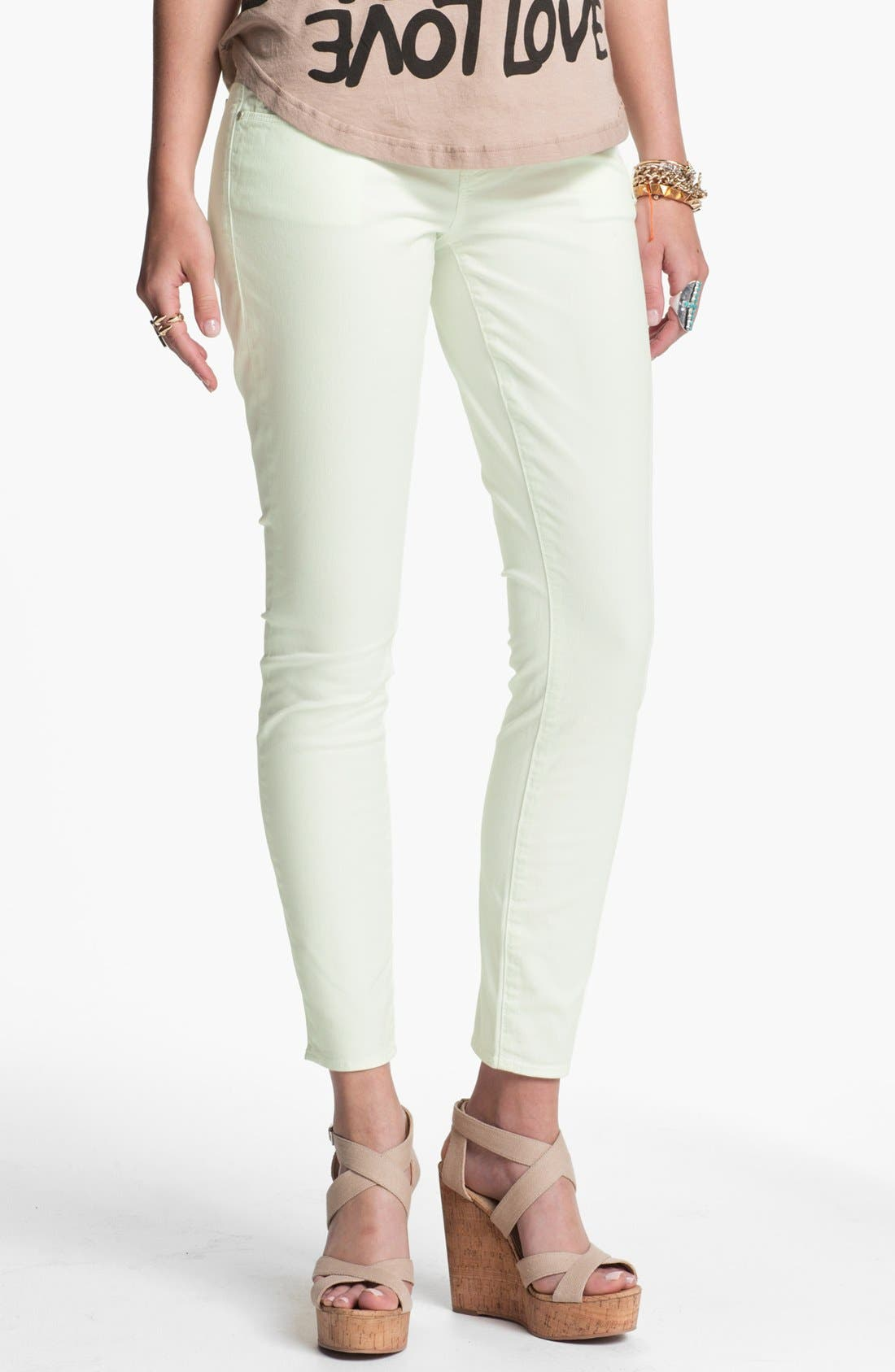 Alternate Image 2  - Articles of Society 'Olivia' Skinny Pants (Mint) (Juniors) (Online Only)