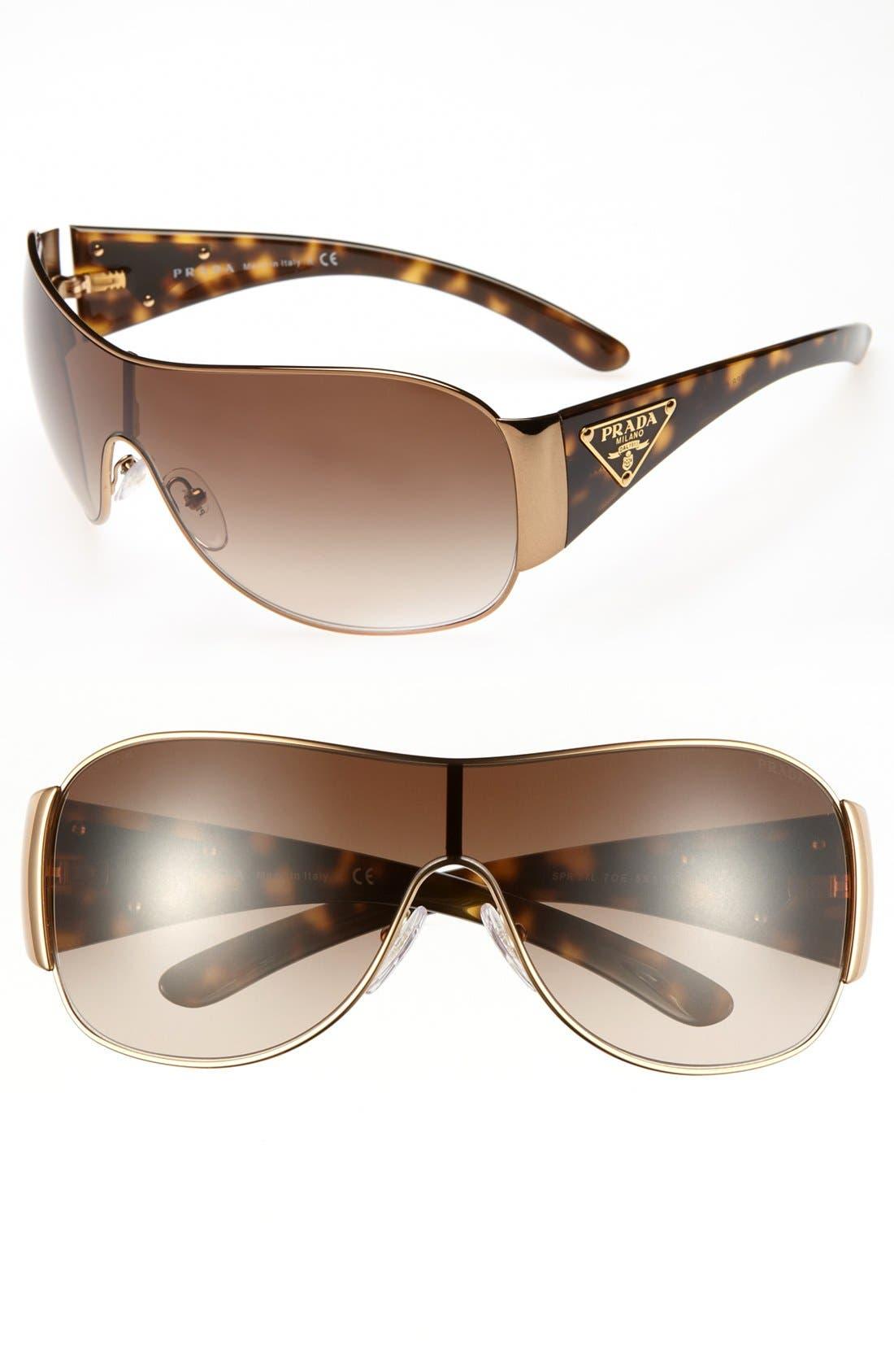 Main Image - Prada 'C-Shield' Polarized Sunglasses
