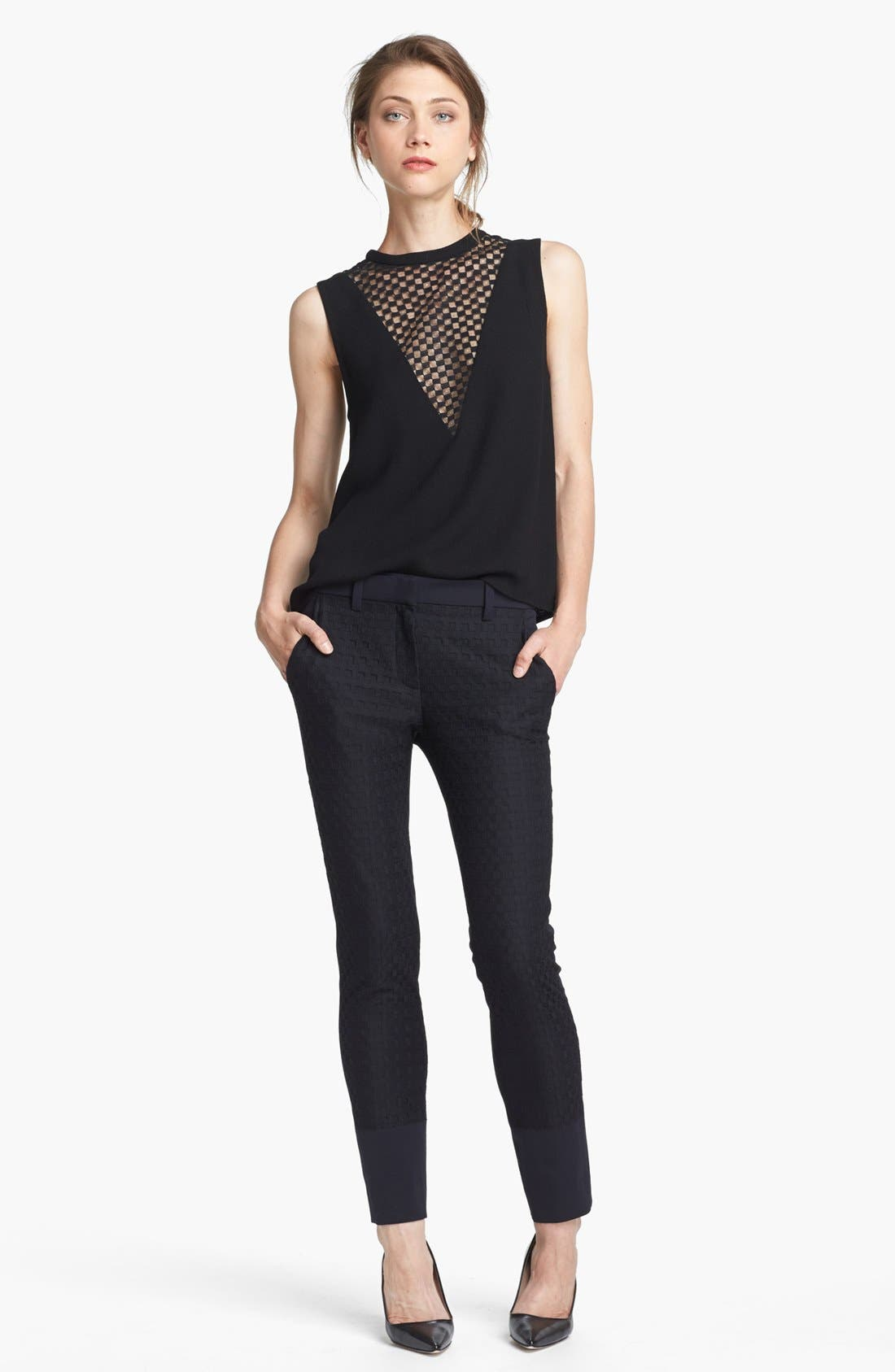 Alternate Image 2  - A.L.C. 'Harlow' Checkerboard Lace Inset Top