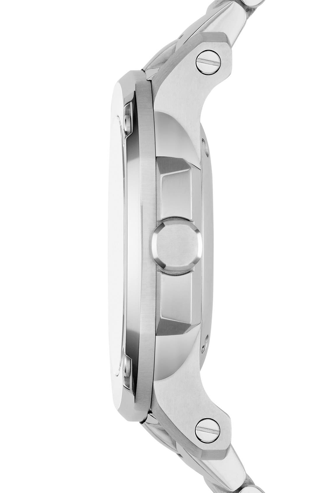 Alternate Image 2  - Burberry The Britain Mother-of-Pearl Bracelet Watch, 38mm