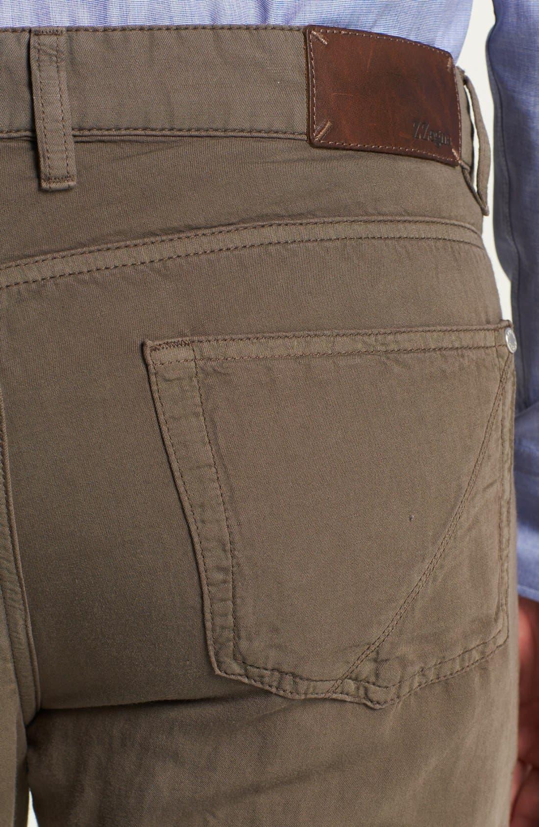 Alternate Image 4  - Z Zegna Slim Straight Leg Linen Blend Pants