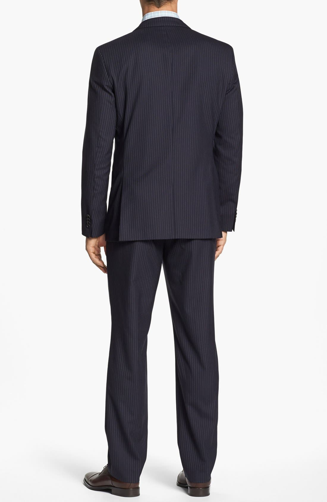 Alternate Image 3  - BOSS Black 'James/Sharp' Trim Fit Stripe Wool Suit