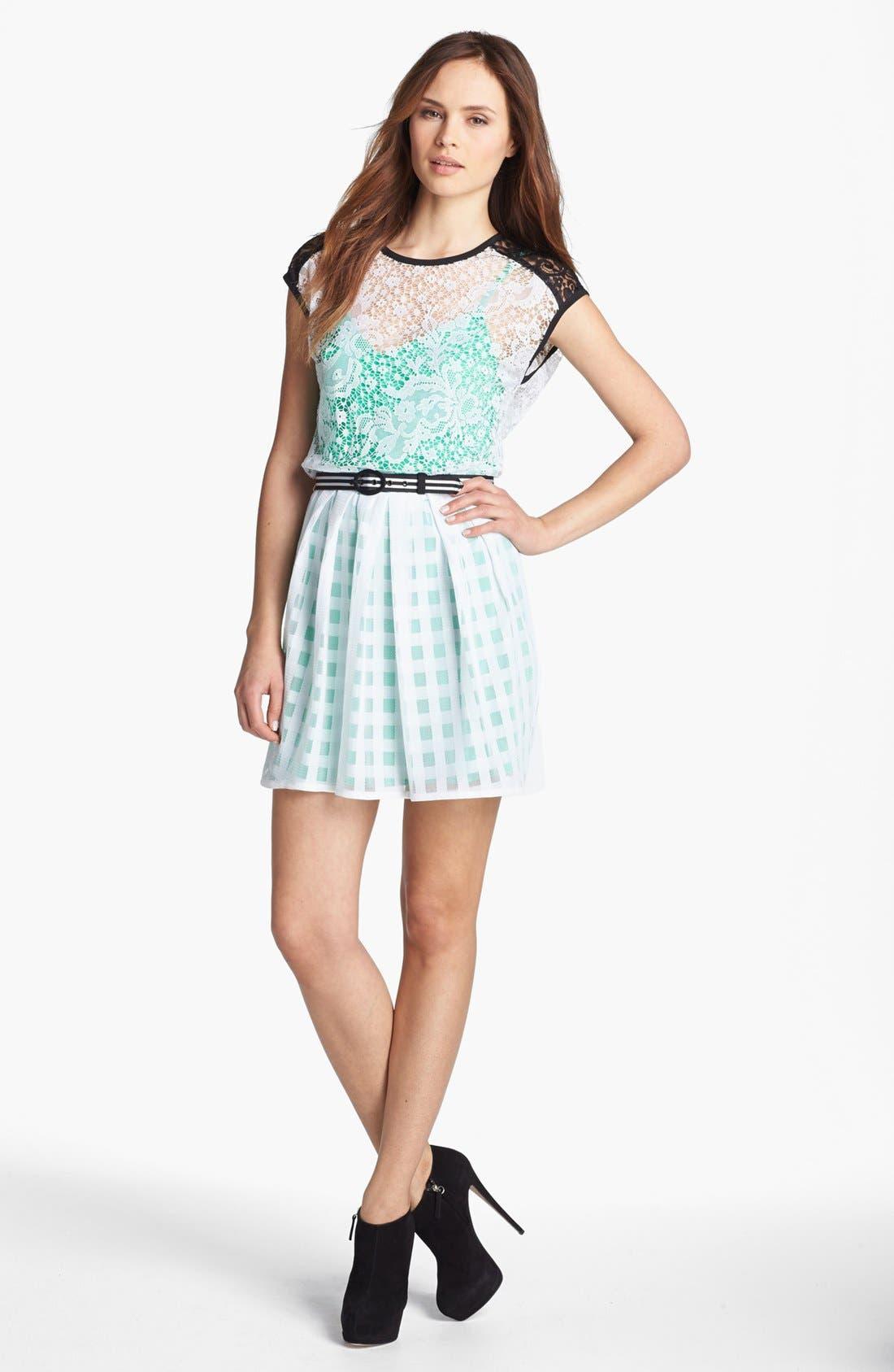 Main Image - Nanette Lepore 'Just Dance' Lace Blouson Dress