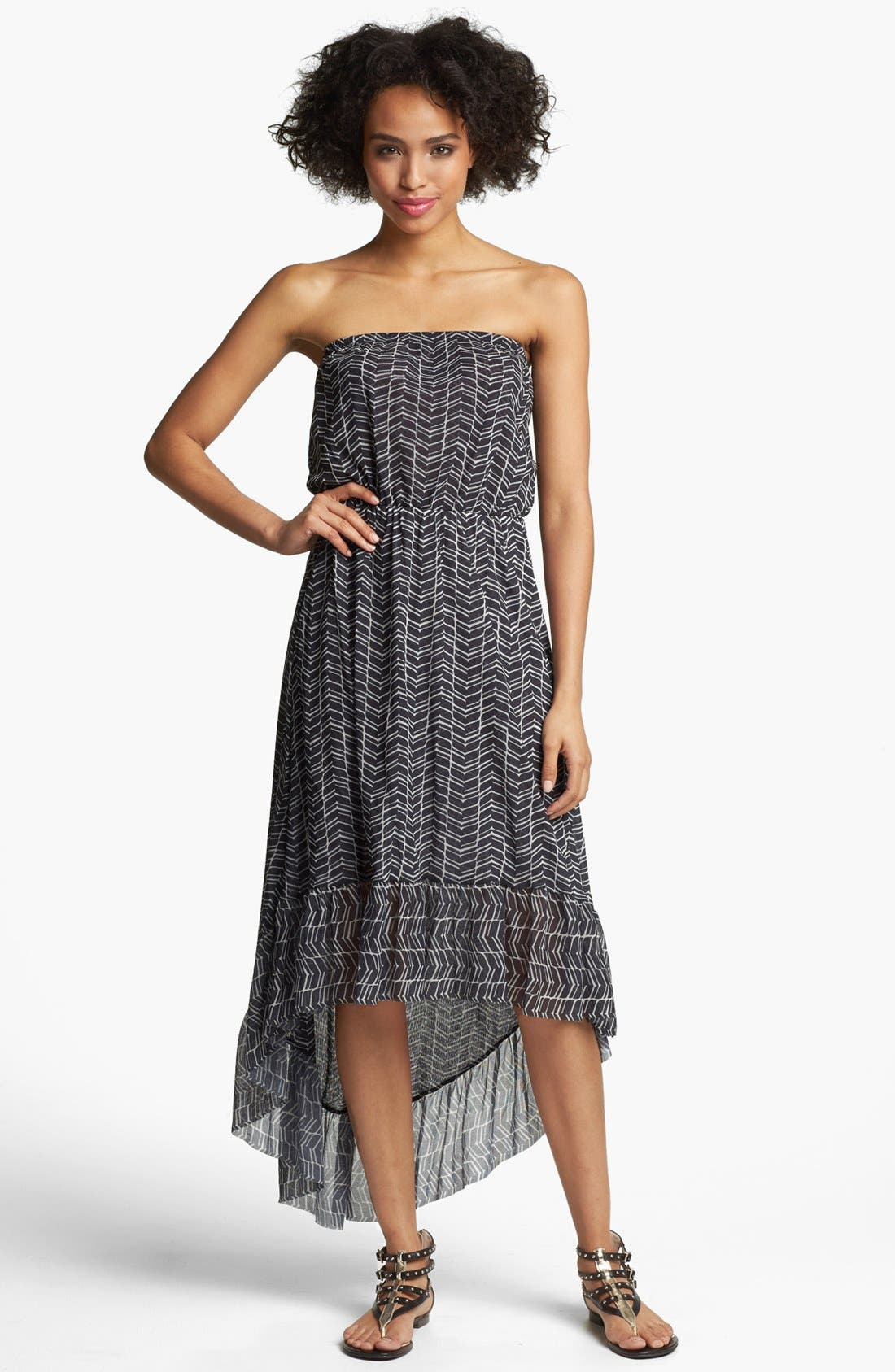 Alternate Image 1 Selected - Sweet Pea by Stacy Frati Stripe High/Low Maxi Dress