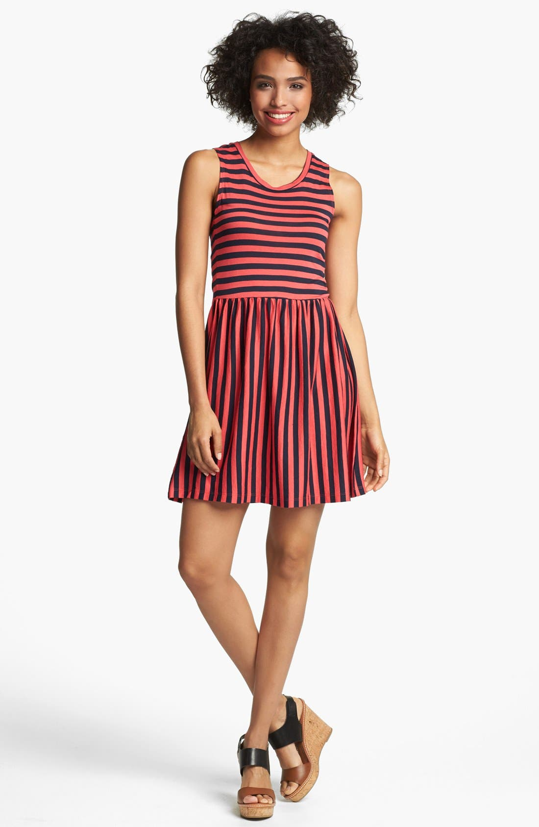 Main Image - French Connection 'Martha' Stripe Fit & Flare Dress