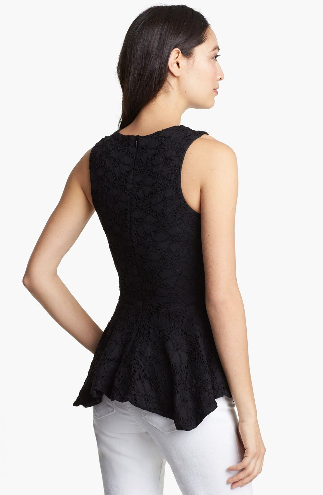 Alternate Image 2  - Karen Kane Handkerchief Peplum Lace Top