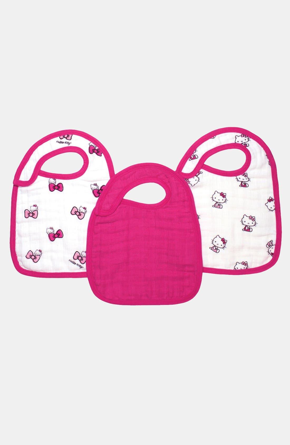 Main Image - aden + anais Hello Kitty® Snap Bibs (3-pack)