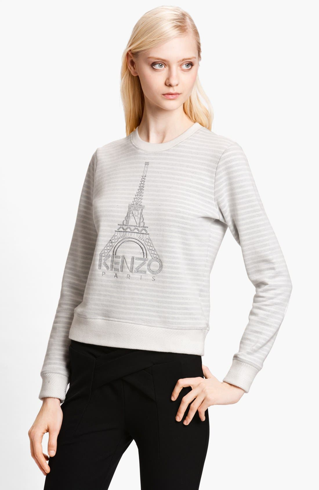 Alternate Image 1 Selected - KENZO Eiffel Tower Stripe Sweatshirt