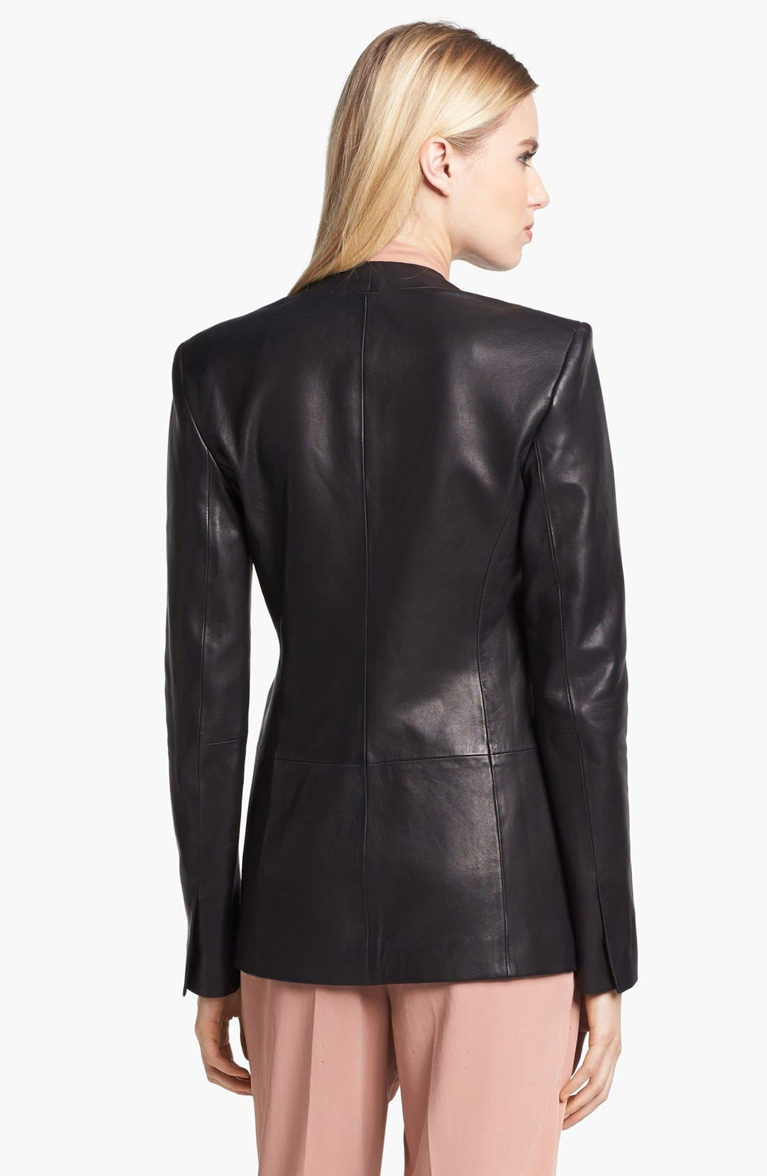 Alternate Image 3  - Theory 'Tamler R.' Open Leather Blazer