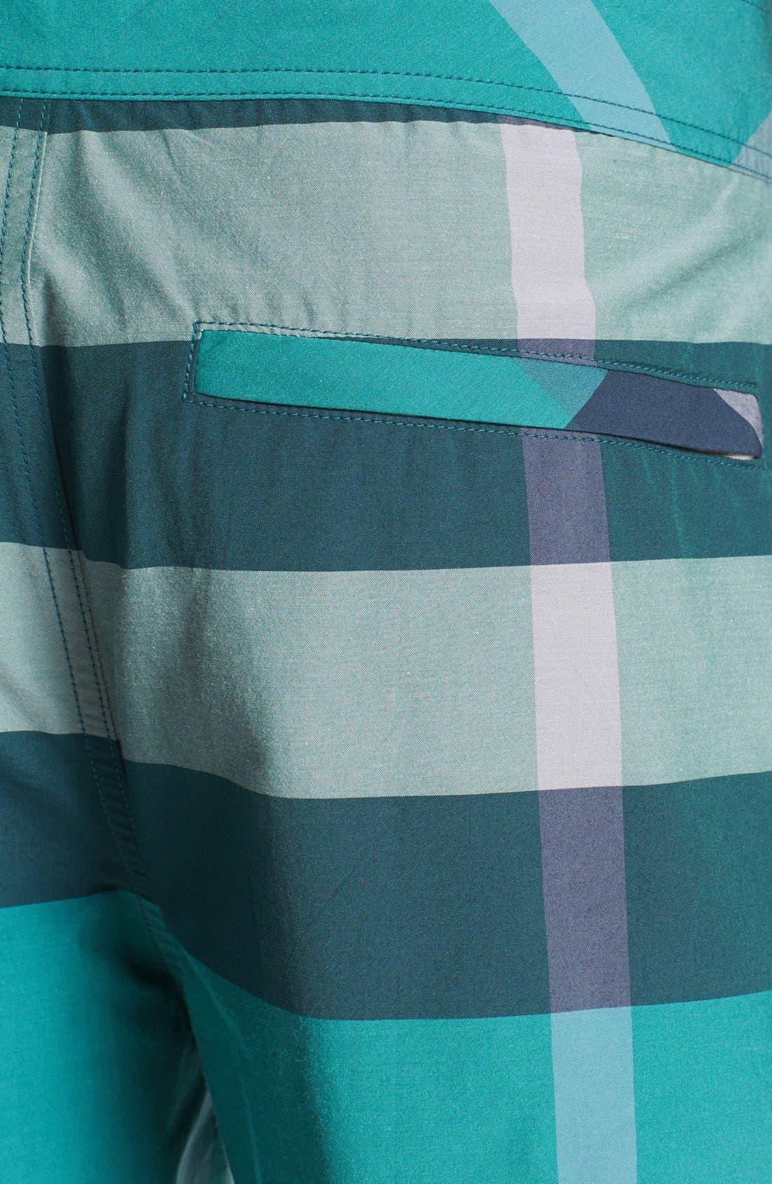 Alternate Image 3  - Burberry Brit Laguna Check Print Board Shorts (Men)