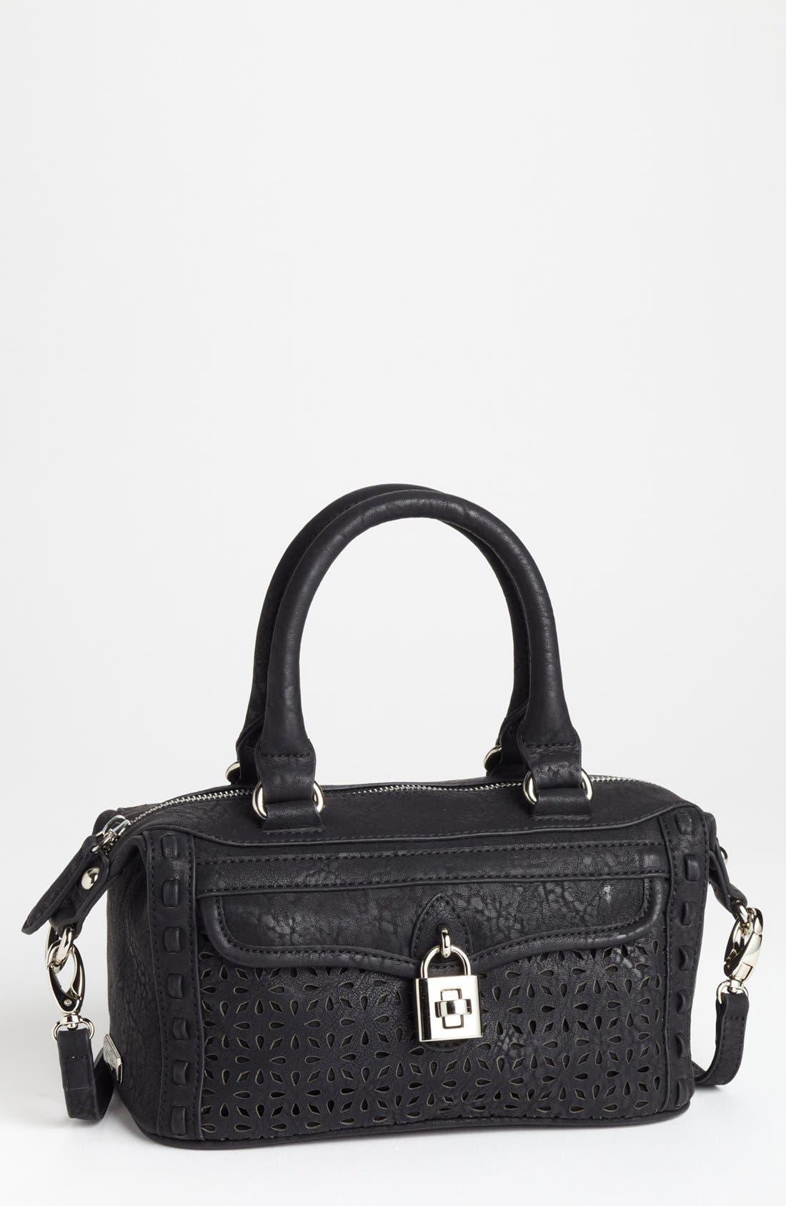 Alternate Image 1 Selected - Jessica Simpson 'Madison - Mini' Faux Leather Satchel