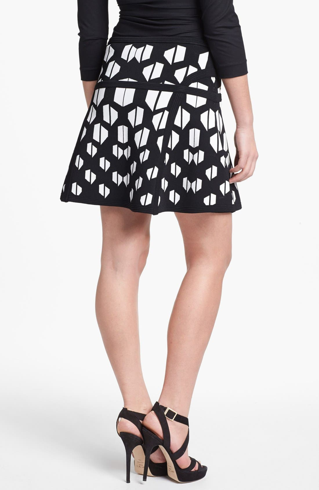 'Flote' Skirt,                             Alternate thumbnail 2, color,                             Black White