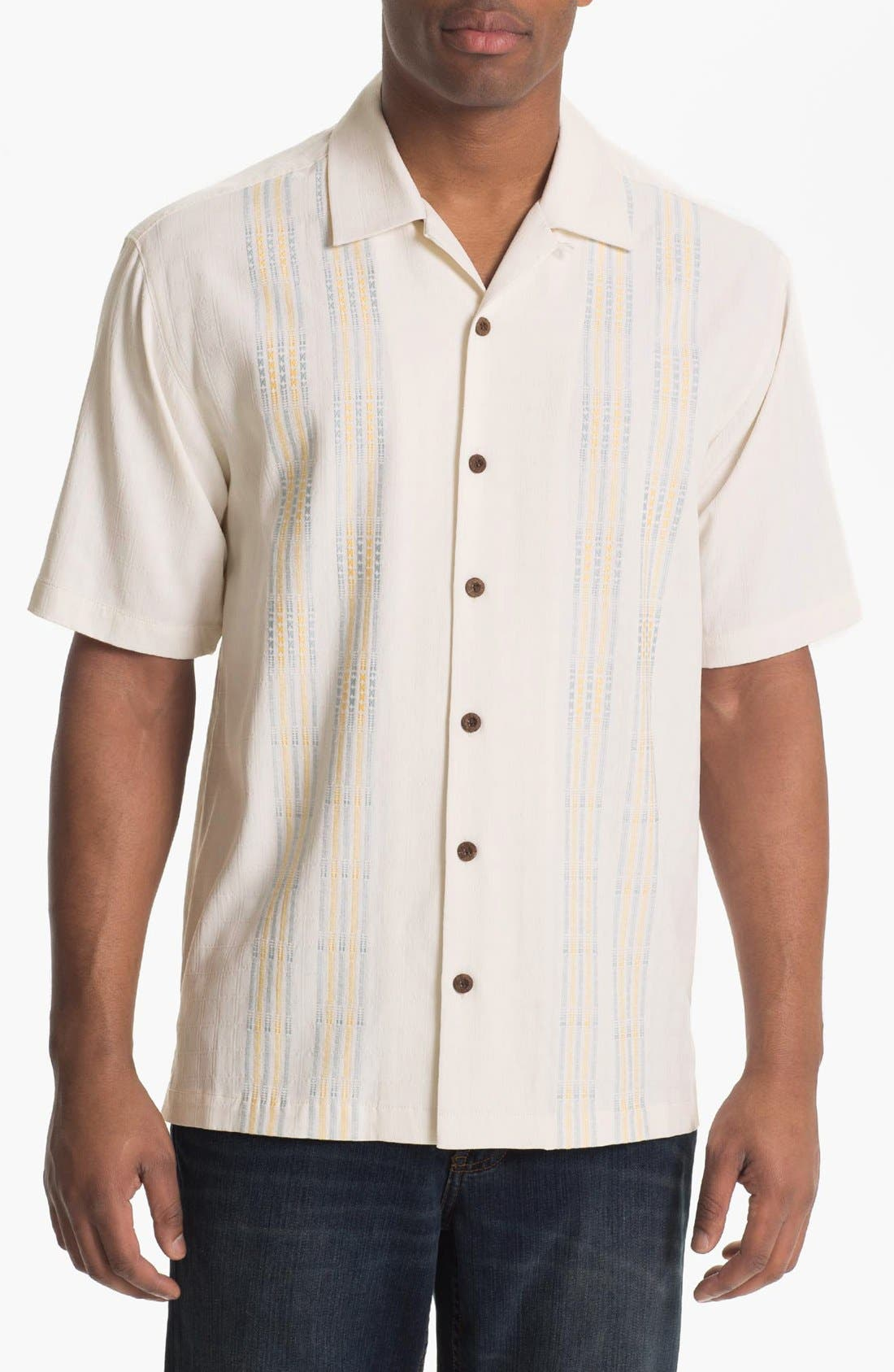 Alternate Image 1 Selected - Tommy Bahama 'Four Amigos' Silk Campshirt (Big & Tall)
