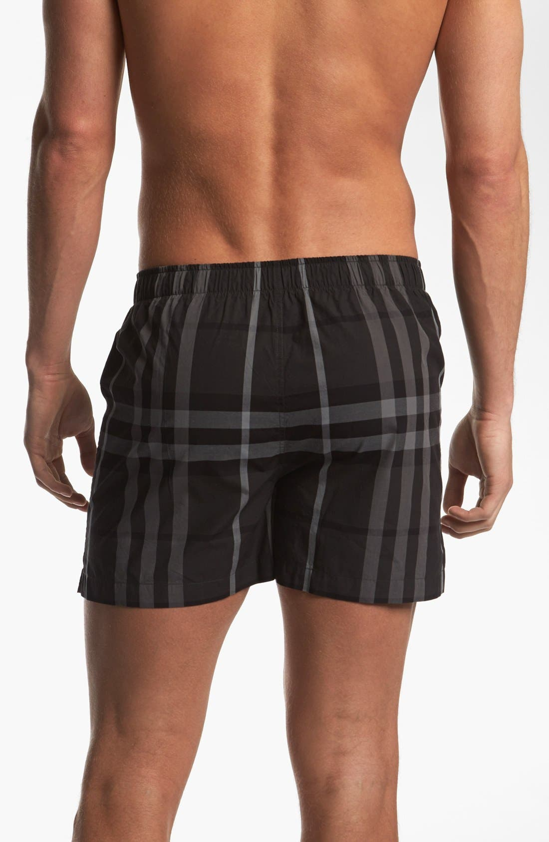Alternate Image 2  - Burberry Check Print Woven Boxers