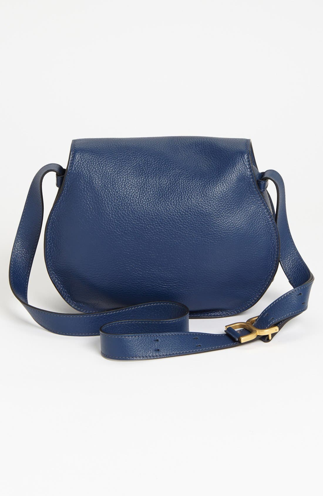 'Marcie - Medium' Leather Crossbody Bag,                             Alternate thumbnail 3, color,                             Royal Navy