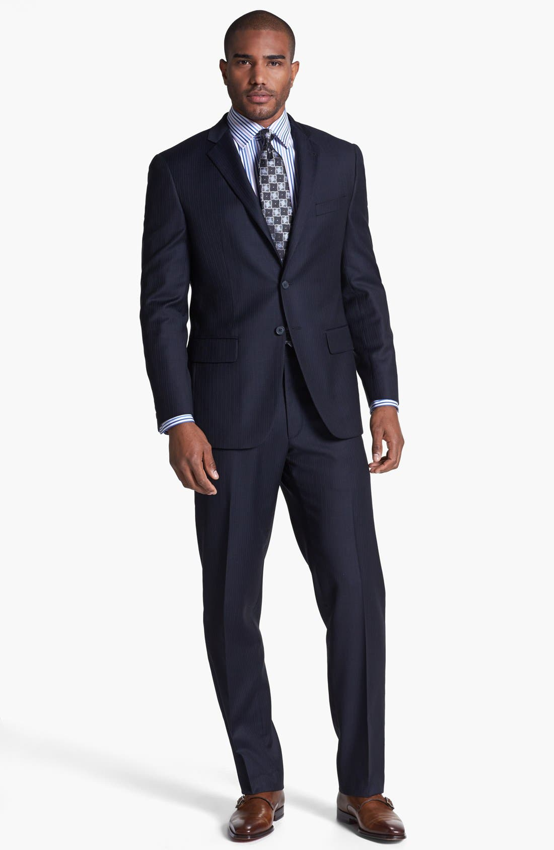 Alternate Image 1 Selected - Joseph Abboud Suit & David Donahue Dress Shirt