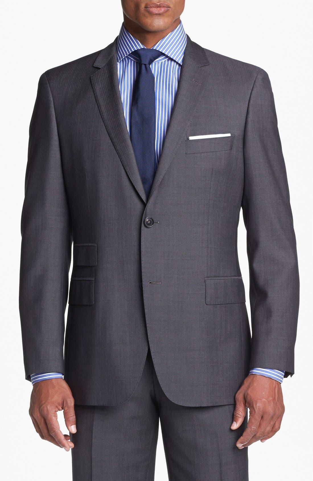 Alternate Image 4  - BOSS HUGO BOSS 'Edison/Power' Classic Fit Wool Suit