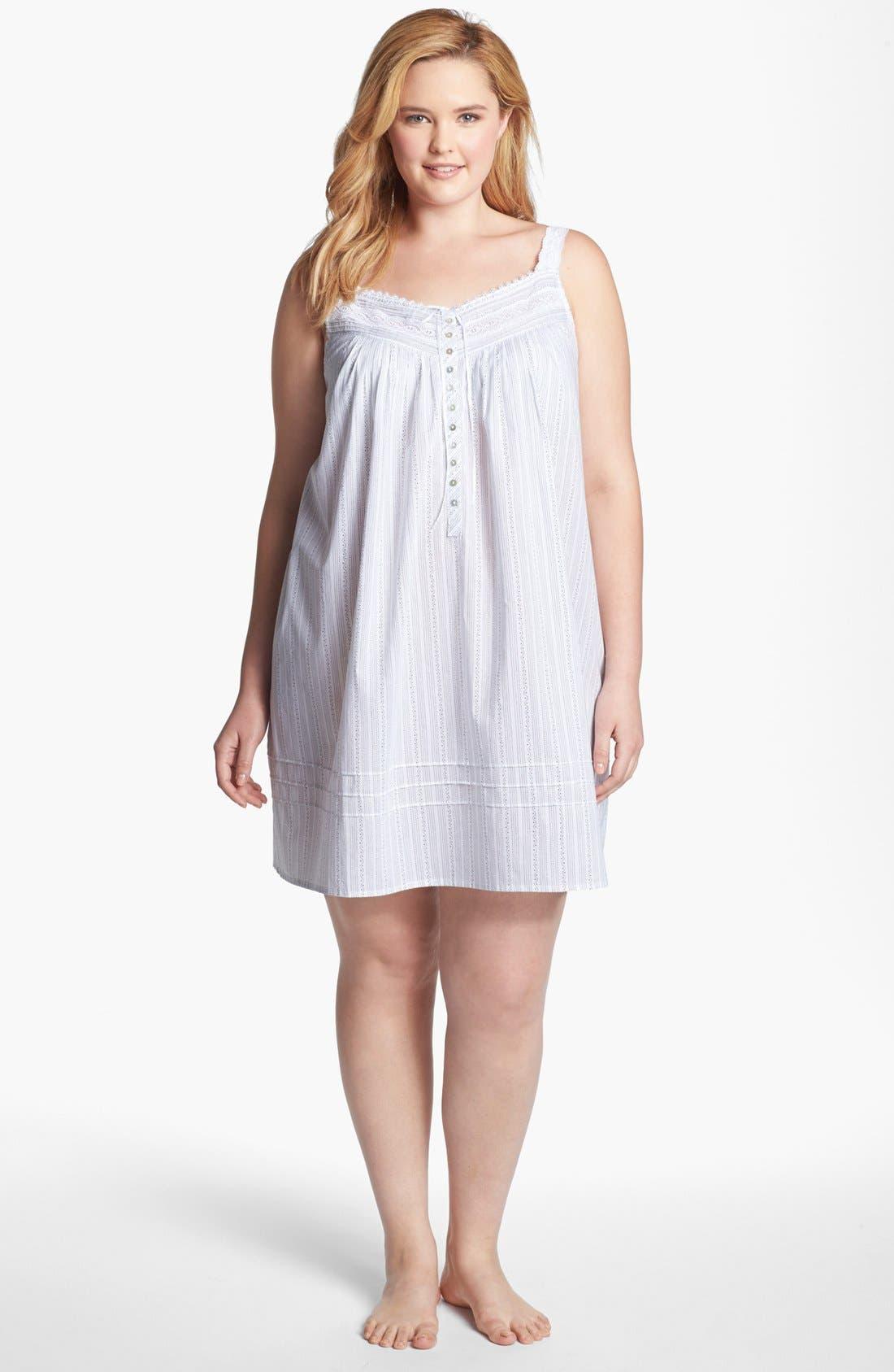 Alternate Image 3  - Eileen West 'Moonlit Shores' Short Nightgown (Plus Size)