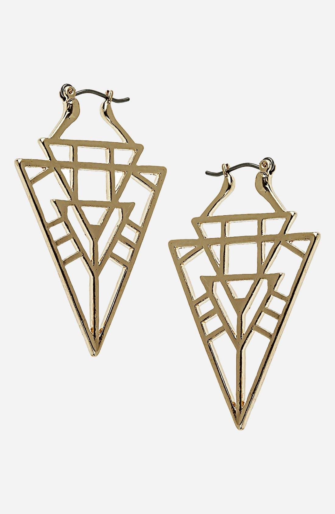 Alternate Image 1 Selected - Topshop Geo Triangle Drop Earrings