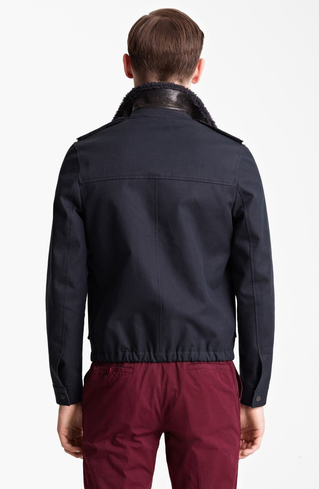 Alternate Image 2  - Lanvin Genuine Shearling & Cotton Bomber Jacket