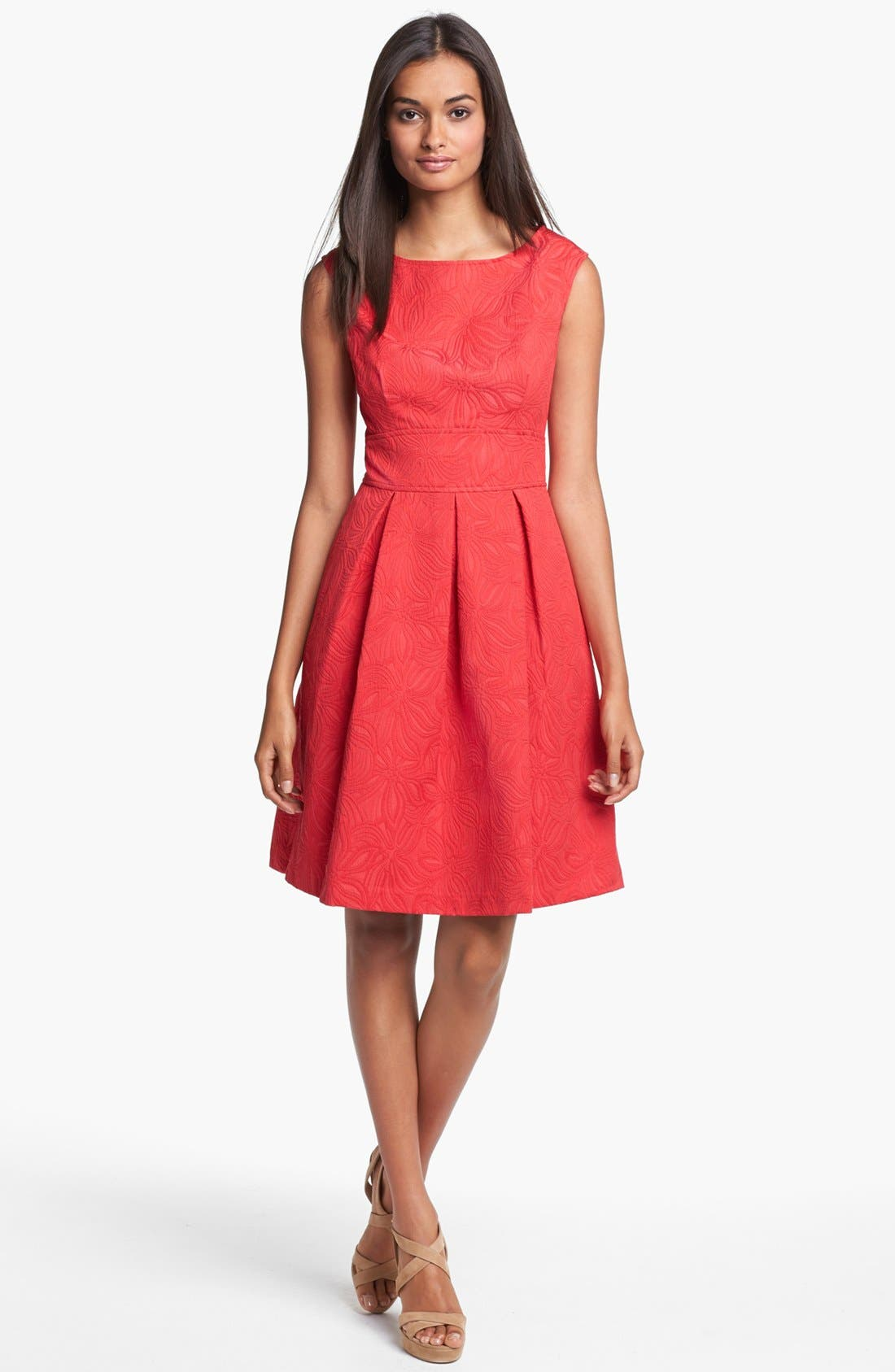 Alternate Image 1 Selected - Adrianna Papell Floral Jacquard Fit & Flare Dress